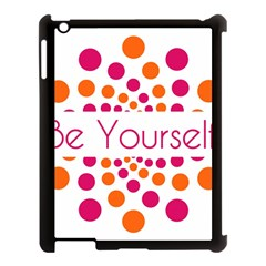 Be Yourself Pink Orange Dots Circular Apple Ipad 3/4 Case (black) by BangZart