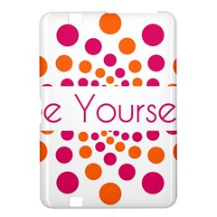 Be Yourself Pink Orange Dots Circular Kindle Fire Hd 8 9  by BangZart