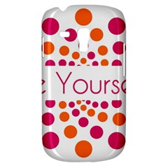 Be Yourself Pink Orange Dots Circular Galaxy S3 Mini by BangZart