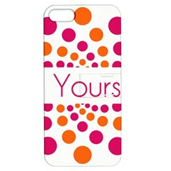 Be Yourself Pink Orange Dots Circular Apple Iphone 5 Hardshell Case With Stand by BangZart