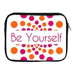 Be Yourself Pink Orange Dots Circular Apple Ipad 2/3/4 Zipper Cases by BangZart