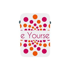 Be Yourself Pink Orange Dots Circular Apple Ipad Mini Protective Soft Cases by BangZart