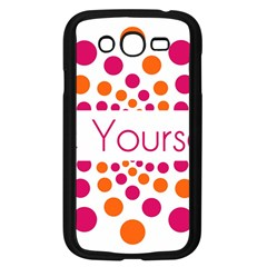 Be Yourself Pink Orange Dots Circular Samsung Galaxy Grand Duos I9082 Case (black)
