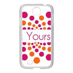 Be Yourself Pink Orange Dots Circular Samsung Galaxy S4 I9500/ I9505 Case (white) by BangZart
