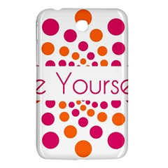 Be Yourself Pink Orange Dots Circular Samsung Galaxy Tab 3 (7 ) P3200 Hardshell Case  by BangZart