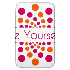 Be Yourself Pink Orange Dots Circular Samsung Galaxy Tab 3 (8 ) T3100 Hardshell Case