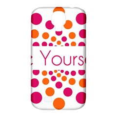 Be Yourself Pink Orange Dots Circular Samsung Galaxy S4 Classic Hardshell Case (pc+silicone)