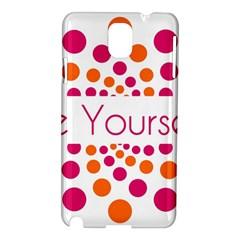 Be Yourself Pink Orange Dots Circular Samsung Galaxy Note 3 N9005 Hardshell Case