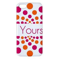 Be Yourself Pink Orange Dots Circular Iphone 5s/ Se Premium Hardshell Case