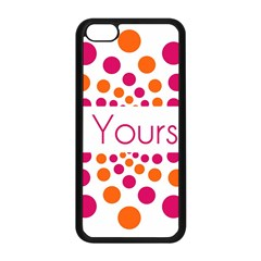 Be Yourself Pink Orange Dots Circular Apple Iphone 5c Seamless Case (black) by BangZart