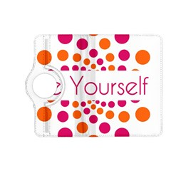 Be Yourself Pink Orange Dots Circular Kindle Fire Hd (2013) Flip 360 Case by BangZart