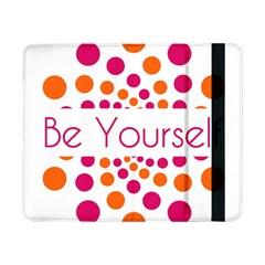 Be Yourself Pink Orange Dots Circular Samsung Galaxy Tab Pro 8 4  Flip Case by BangZart