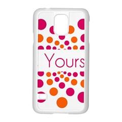 Be Yourself Pink Orange Dots Circular Samsung Galaxy S5 Case (white) by BangZart