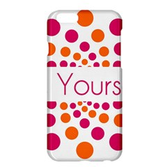 Be Yourself Pink Orange Dots Circular Apple Iphone 6 Plus/6s Plus Hardshell Case by BangZart