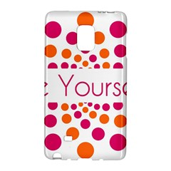 Be Yourself Pink Orange Dots Circular Galaxy Note Edge by BangZart