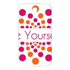 Be Yourself Pink Orange Dots Circular Samsung Galaxy Mega I9200 Hardshell Back Case