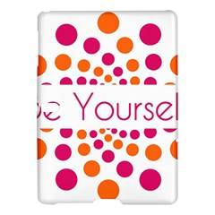 Be Yourself Pink Orange Dots Circular Samsung Galaxy Tab S (10 5 ) Hardshell Case  by BangZart