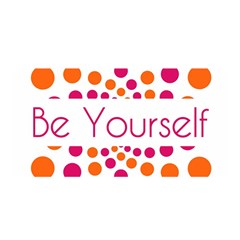 Be Yourself Pink Orange Dots Circular Satin Wrap