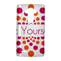 Be Yourself Pink Orange Dots Circular Lg G4 Hardshell Case by BangZart