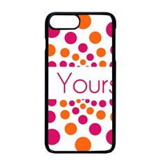 Be Yourself Pink Orange Dots Circular Apple Iphone 7 Plus Seamless Case (black) by BangZart