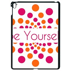 Be Yourself Pink Orange Dots Circular Apple Ipad Pro 9 7   Black Seamless Case by BangZart