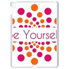 Be Yourself Pink Orange Dots Circular Apple Ipad Pro 9 7   White Seamless Case by BangZart