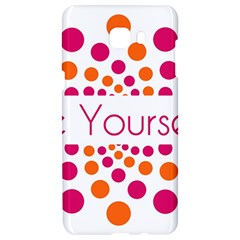 Be Yourself Pink Orange Dots Circular Samsung C9 Pro Hardshell Case