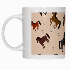 Horses For Courses Pattern White Mugs by BangZart