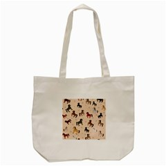 Horses For Courses Pattern Tote Bag (cream) by BangZart