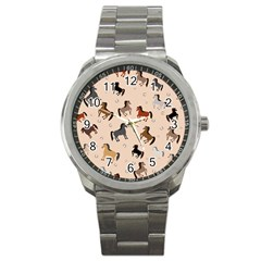 Horses For Courses Pattern Sport Metal Watch by BangZart