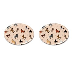 Horses For Courses Pattern Cufflinks (oval) by BangZart