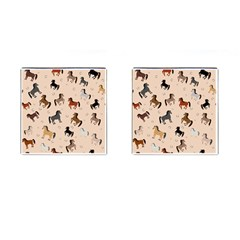 Horses For Courses Pattern Cufflinks (square) by BangZart