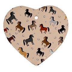 Horses For Courses Pattern Heart Ornament (two Sides) by BangZart