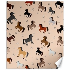 Horses For Courses Pattern Canvas 8  X 10  by BangZart