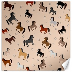Horses For Courses Pattern Canvas 16  X 16