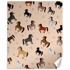 Horses For Courses Pattern Canvas 16  X 20