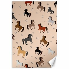 Horses For Courses Pattern Canvas 24  X 36