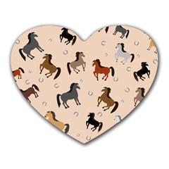 Horses For Courses Pattern Heart Mousepads by BangZart