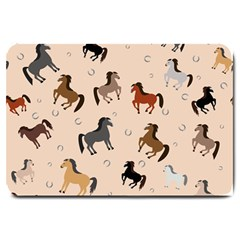 Horses For Courses Pattern Large Doormat