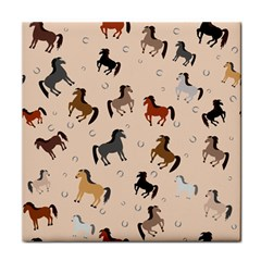 Horses For Courses Pattern Face Towel by BangZart