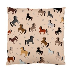 Horses For Courses Pattern Standard Cushion Case (one Side) by BangZart