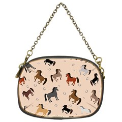 Horses For Courses Pattern Chain Purses (two Sides)  by BangZart