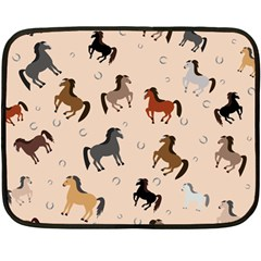 Horses For Courses Pattern Double Sided Fleece Blanket (mini)
