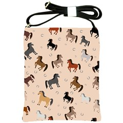 Horses For Courses Pattern Shoulder Sling Bags by BangZart