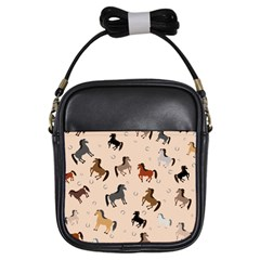 Horses For Courses Pattern Girls Sling Bags by BangZart