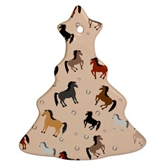 Horses For Courses Pattern Christmas Tree Ornament (two Sides)