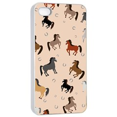 Horses For Courses Pattern Apple Iphone 4/4s Seamless Case (white) by BangZart