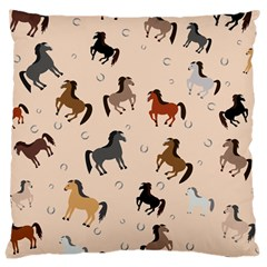 Horses For Courses Pattern Large Cushion Case (two Sides) by BangZart
