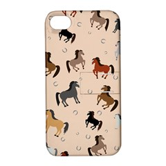 Horses For Courses Pattern Apple Iphone 4/4s Hardshell Case With Stand
