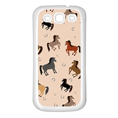 Horses For Courses Pattern Samsung Galaxy S3 Back Case (white)